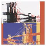 Brooklyn Bridge  1983 (black bridge/white background)