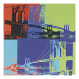 Brooklyn Bridge  1983 (orange  blue  lime)