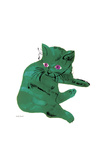 "Cat From ""25 Cats Named Sam and One Blue Pussy""  c 1954 (Green Cat)"