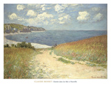Chemin dans les bles a Pourville, 1882 Reproduction d'art par Claude Monet