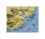 Charleston  South Carolina Beach Map