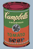 Colored Campbell's Soup Can  1965 (green & red)