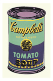 Colored Campbell's Soup Can  1965 (green & purple)