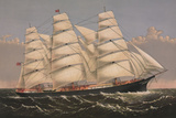 "Clipper Ship ""Three Brothers""  ca 1875"