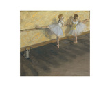Dancers Practicing at the Barre, 1877 Reproduction d'art par Edgar Degas