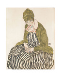 Edith with Striped Dress  Sitting  1915