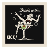 Drinks with a Kick Reproduction d'art