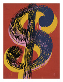 Dollar Sign  1981 (black and yellow on red)