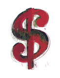 Dollar Sign  1981 (red)