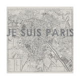 Je Suis Paris - Map of Paris  France