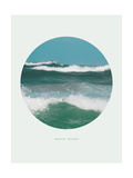Inspirational Circle Design - Ocean Waves: Beach Bound