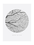 Inspirational Circle Design - Snowy Branches: Weather the Storm