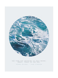Inspirational Circle Design - Ocean Waves: The Cure for Anything is Salt Water: Sweat  Tears or the