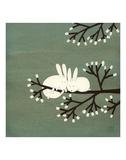 Rabbits on Marshmallow Tree Reproduction d'art par Kristiana Pärn