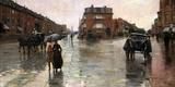 Rainy Day  Boston  1885