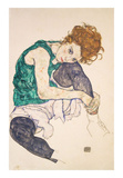 Seated Woman with Legs Drawn Up (Adele Herms)  1917