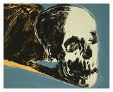 Skull  1976 (yellow on teal)