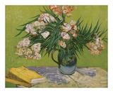 Still Life with Oleander Reproduction d'art par Vincent Van Gogh