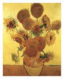 Quatorze Tournesols dans un vase, 1888 Reproduction d'art par Vincent Van Gogh