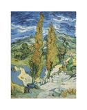 The Poplars at Saint-Rémy, 1889 Reproduction d'art par Vincent Van Gogh