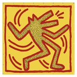 Untitled  1982 (red dog on yellow)