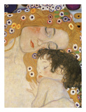The Three Ages of Woman (detail) Reproduction d'art par Gustav Klimt