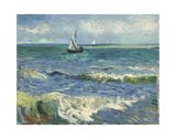 The Sea at Les Saintes-Maries-de-la-Mer, 1888 Reproduction d'art par Vincent Van Gogh