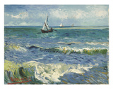The Sea at Les Saintes-Maries-de-la-Mer  1888
