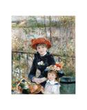 The Two Sisters on the Terrace, 1881 Reproduction d'art par Pierre-Auguste Renoir