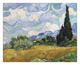 Wheat Field with Cypresses, 1889 Reproduction d'art par Vincent Van Gogh