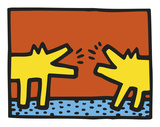 Untitled, 1989 (dogs) Reproduction d'art par Keith Haring