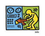 Untitled, 1989 (machine) Reproduction d'art par Keith Haring