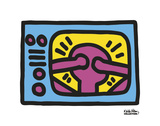 Untitled, 1987 (TV) Reproduction d'art par Keith Haring