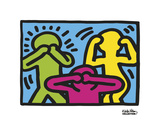 Untitled, 1989 (no evil) Reproduction d'art par Keith Haring