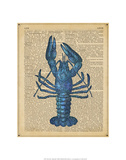 Vintage Lobster Reproduction d'art par Sparx Studio