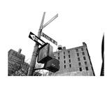 West Broadway and Franklin Street (b/w)