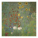 Farm Garden with Sunflowers, around 1905/1906 Reproduction d'art par Gustav Klimt