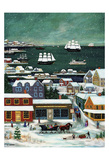 Winter in Nantucket Harbor