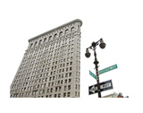 Flatiron Building with Lamp