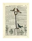 Garden Fork & Birds