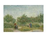 Garden with Courting Couples: Square Saint-Pierre, 1887 Reproduction d'art par Vincent Van Gogh