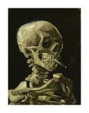 Head of a Skeleton with a Burning Cigarette, 1886 Reproduction d'art par Vincent Van Gogh