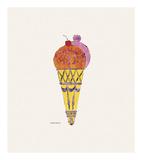 Crème glacée, v. 1959 (rouge et rose) Reproduction d'art par Andy Warhol