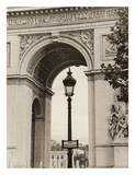 Lamp and Arc de Triomphe