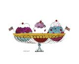 Ice Cream Dessert  c1959 (3 scoop)