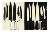 Knives  c 1981-82 (cream and black)