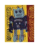 Moon Explorer Robot  1983 (blue & yellow)