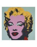 Marilyn, 1967 (sur fond bleu) Reproduction d'art par Andy Warhol