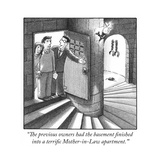 """The previous owners had the basement finished into a terrific Mother-in-L…"" - Cartoon"