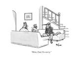 """Mom  Dad  I'm merry"" - New Yorker Cartoon"